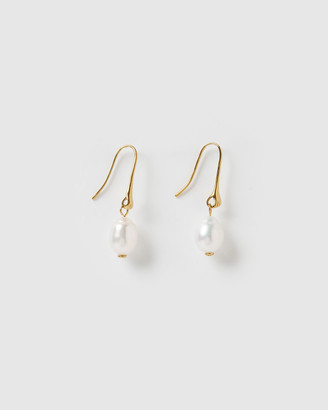 Izoa - Women's White Earrings - Sirius Drop Earrings - Size One Size at The Iconic