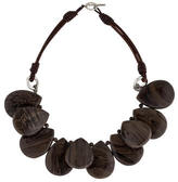 Brunello Cucinelli Chocolate Agate Necklace