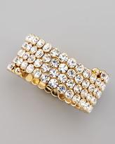 Cara Accessories Crystal Spiral Bracelet, White