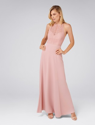 Forever New Nina Lace Top Soft Maxi - Soft Blush - 4