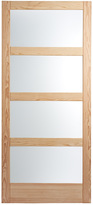 Rejuvenation 4 Panel Frosted Glass Barn Door - 36in.