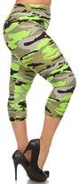 NioBe Women's Plus Size Fashion Design Capri Crop Leggings
