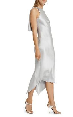 Cushnie Asymmetrical Ruffled Silk Dress