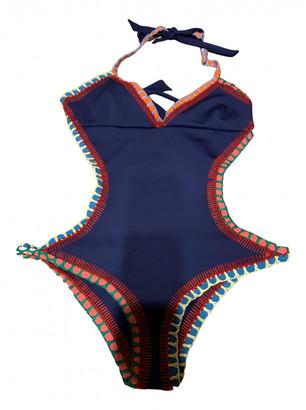 Kiini Blue Polyester Swimwear