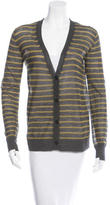 Alexander Wang Striped V-Neck Cardigan