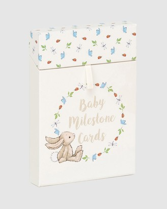 Jellycat White Animals Bashful Bunny Baby's First Photo Cards - Size One Size at The Iconic
