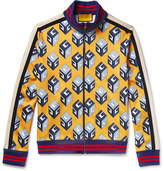 Gucci Printed Satin-Jersey Track Jacket