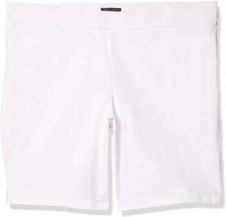 Napa Valley Women's Plus Size Cotton Super Stretch Pull on Bermuda Short