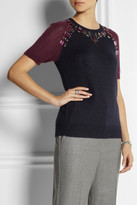 J.Crew Crystal-embellished knitted top