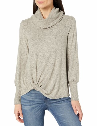 Amy Byer Women's Cowl Neck Twist Hem Top