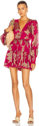 HEMANT AND NANDITA Elea Mini Dress in Pink   FWRD