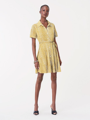 Diane von Furstenberg Jett Jersey Mini Shirt Dress