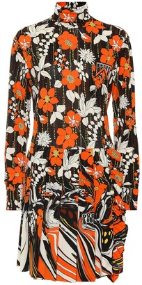 Prada Floral jersey minidress