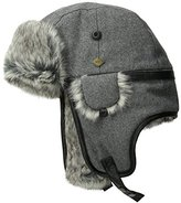 San Diego Hat Company San Diego Hat Co. Men's Faux Fur Trapper Hat with Leather Trim