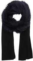 Barneys New York WOMEN'S CASHMERE & KNITTED-FUR SCARF