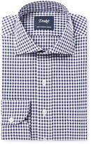 Drake's - Blue Slim-fit Gingham Cotton-poplin Shirt
