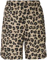 Stussy leopard print swim shorts