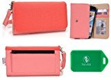 ZTE Blade S6 Wristlet wallet phone holder with Card slots and Coin Pocket