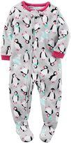 Carter's Toddler Girl Winter Printed Fleece Footed Pajamas
