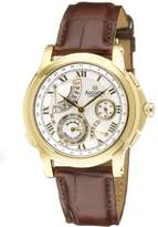 Accurist Grand Master's Repeater Men's Quartz Watch with Silver Dial Analogue Display and Brown Leather Strap GMT323