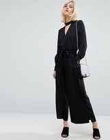 Fashion Union Wide Leg Pants With Paper Bag Tie Waist