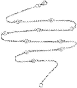 "Auree Jewellery Sofia Sterling Silver & Cubic Zirconia 18"" Necklace"