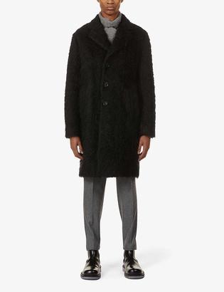 Oscar Jacobson Piper single-breasted faux-fur coat
