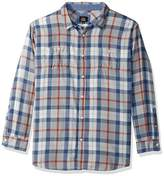 Lee Men's Long Sleeve Flannel Button Down Shirt