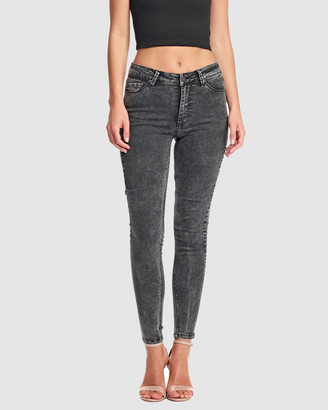 RES Denim Women's Black Jeans - Kitty Skinny Ankle Jean - Size One Size, 27 at The Iconic