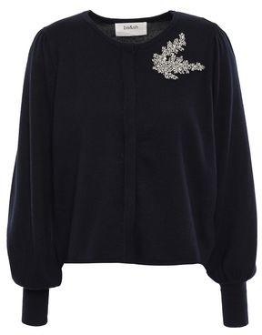 BA&SH Dora Crystal-embellished Cotton, Silk And Cashmere-blend Cardigan