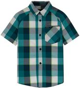 Hurley Boys 4-7 Raglan Plaid Button-Down Shirt