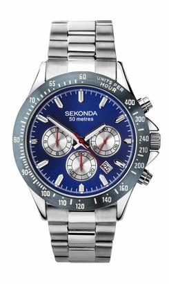 Sekonda Mens Multi dial Quartz Watch with Stainless Steel Strap 1649E.27