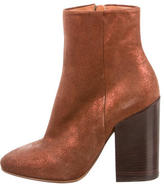 Dries Van Noten Glitter-Accented Suede Ankle Boots