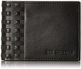 Ben Sherman Men's Holland Park Full Grain Cowhide Leather Six Pocket Wallet with Rfid