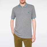 Paul Smith Men's Grey Marl PS Logo Organic-Cotton Polo Shirt