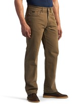 Lee Men's Flannel-Lined Straight-Leg Jeans