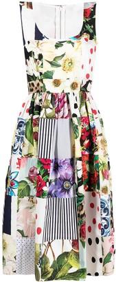 Dolce & Gabbana Patchwork Midi Dress