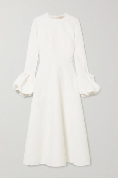Roksanda Ruffled Crepe Midi Dress - Ivory