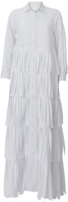 Daneh Shredded Maxi Shirt Dress