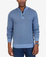 Nautica Men's Quarter-Zip Striped Sweater