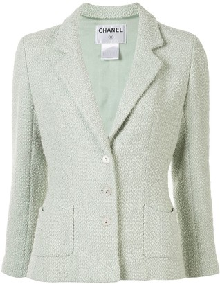 Chanel Pre Owned 2003 Woven Slim-Fit Blazer