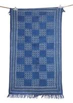 Jaipur Textile Hub Vintage Hand Woven Indigo Color Large Beautiful 4x6 Asian Art Beautiful Rug
