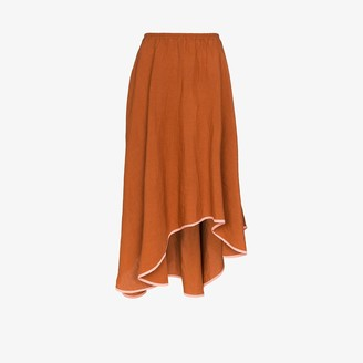Araks Zelda asymmetric midi skirt