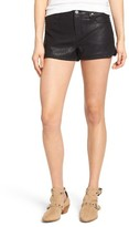 Blank NYC Women's Blanknyc Lace Up Faux Leather Shorts
