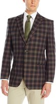 Haggar Men's Plaid 2-Button Sport Coat
