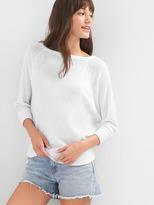 Gap Waffle knit boatneck sweater