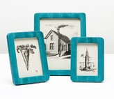 The Well Appointed House Pigeon & Poodle Bergen Turquoise Snakeskin Picture Frame-Available in Three Different Sizes - CURRENTLY ON BACKORDER,