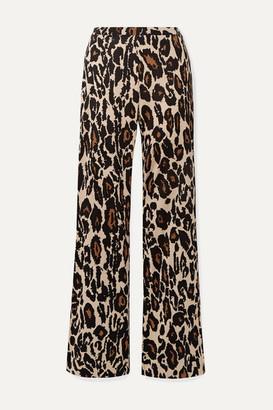 Diane von Furstenberg Caspian Leopard-print Silk-jersey Flared Pants - Leopard print
