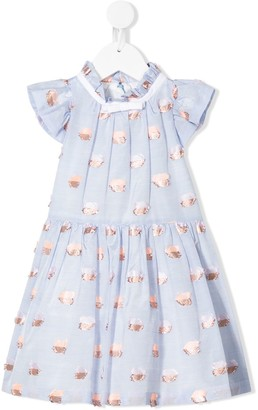 Hucklebones London Flutter bodice dress