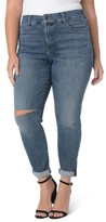 NYDJ Plus Size Women's Ripped Skinny Girlfriend Jeans